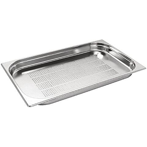 Teglia forata, perforata, in acciaio (Acciaio Inossidabile Rettangolare Pan)