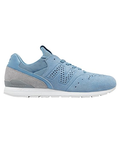 New Balance 996 Re-Engineered Pale Blue Suede Trainers Blanc-Gris-Bleu