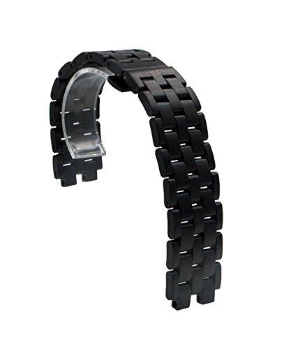 edelstahl-kette-uhrenarmband-armband-mit-butterflyschliesse-fur-pebble-steel-schwarz