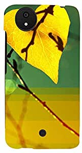 Printvisa Love Leaf Case Cover for Micromax Canvas A1