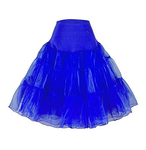 CoutureBridal® 50er Jahre Organza Vintage Rockabilly Petticoat Unterrock Underskirt Blau