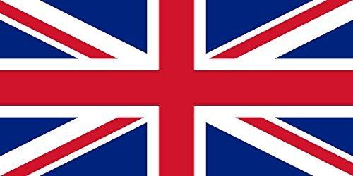 52 cm x 91 cm groß - 100% Polyester - metallische Nestellöcher, zwiegenäht Großbritannien / Britische / Königliche Flagge/ London Fußball Party / Partys Perfekt für Außen- und Innenanwendung! Ein unvergessliches und stilvolles britisches Souvenir (Spa-party-dekorationen Ideen)