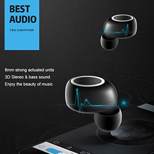 ALIKEEY Kabellose Kopfhörer Mini Twins Echte Sport Ohrhörer mit Bluetooth In Ear Stereon Ohrhörer für iPhone, iPad, Samsung, Huawei, xiaomi und mehr - 4