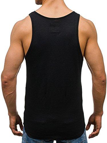 BOLF Herren Tanktop T-Shirt Tee Ärmellos Motiv Sport Army Kurzarm Mix 3C3 Camo Schwarz_9050