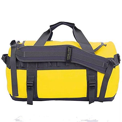 Wewod Multisport Reisetasche Reisetasche Sporttasche Freizeit Ultraleichte Wasserdichte Gepäcktasche 27l (50cm*22cm*30cm) (gelb)