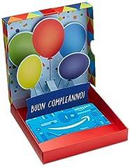 Idea Regalo - Buono Regalo Amazon.it - Cofanetto Compleanno Pop Up
