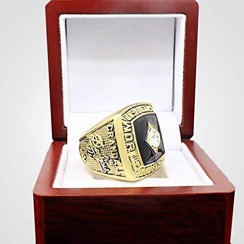 QiXian Sport Fans Collection Champion Ringe Fans Männer Memorial Ringe High-End-Kollektionen Fans Legierung Ringe Herren Accessoires Vintage-Zubehör, Gold, 11 (Herren-halb Edelstein-ringe)