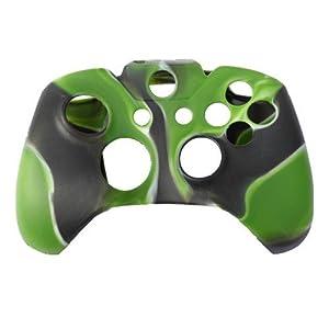 SODIAL (R) Silikon Haut Case Kontroller Kompatibel mit Xbox One (Armee-Gruen & Schwarz)