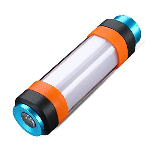 SupFire Kampierende Laterne LED Licht Multifunktionale Wasserdichte Magnetische Camping Lampe mit 18650 Batterie Enthalten, Wiederaufladbar mit USB-Kabel Direkt,6 Modi für Camping Wandern,Modell T2