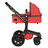 Joolz Day 211045-221532-231531 Kombikinderwagen Set (ohne Sitz, Wanne, Einkaufskorb) rot/schwarz