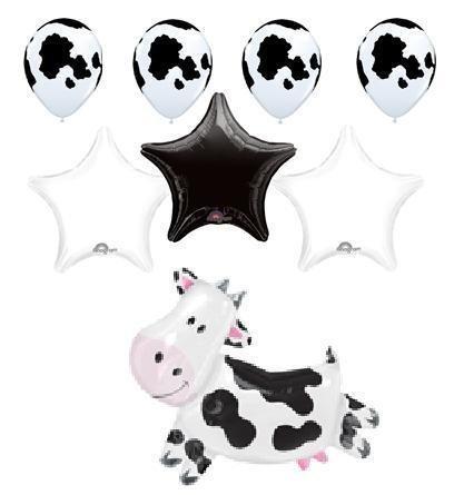 COW FARM BALLOON barn animal party supplies birthday by Lgp by Lgp (Barn Animal Supplies Party)