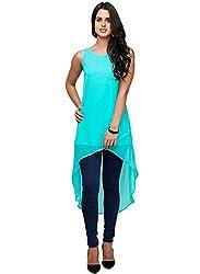 Vaankosh Fashion Women's Georgette Kurti (sky blue kurti_Blue_Free Size)