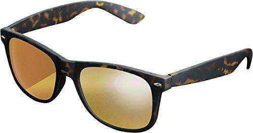MSTRDS Likoma Mirror Unisex Sonnenbrille Für Damen und Herren mit verspiegelten Gläsern, amber/orange