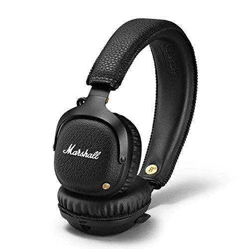 Marshall Mid - Auriculares con Diadema (Bluetooth 4.0, 40 mm, Dynamic, 30 Horas, 2 micrófonos), Color Negro