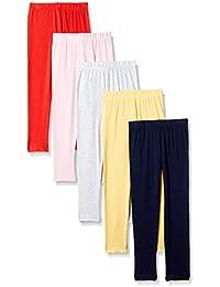 Cherokee Girls' Cotton Leggings (Pack of 5)