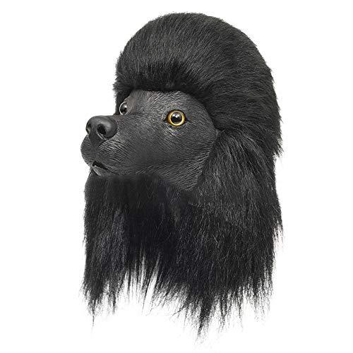 Für Pudel Erwachsene Kostüm Hunde - Fairylove 3D Halloween Vollkopfmaske Masken Horror Dekoration Kostüme Damen Halloween Spielzeug Masken für Kinder Erwachsene Geschenke Requisiten Partyzubehör Cosplay, Pudel Hund