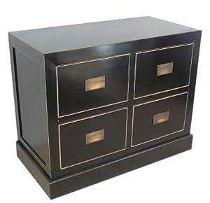 asia kommode mit schubladen in schwarz k che haushalt. Black Bedroom Furniture Sets. Home Design Ideas