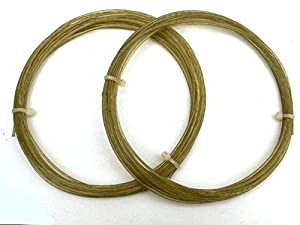 Genuine real natural gut tennis racquet string 16 guage 1.5mm thick 2x6.5 metre pieces pro