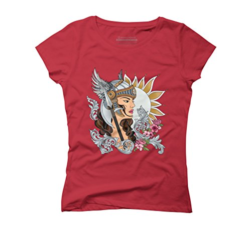 The Warrior Women's Graphic T-Shirt - Design By Humans Red