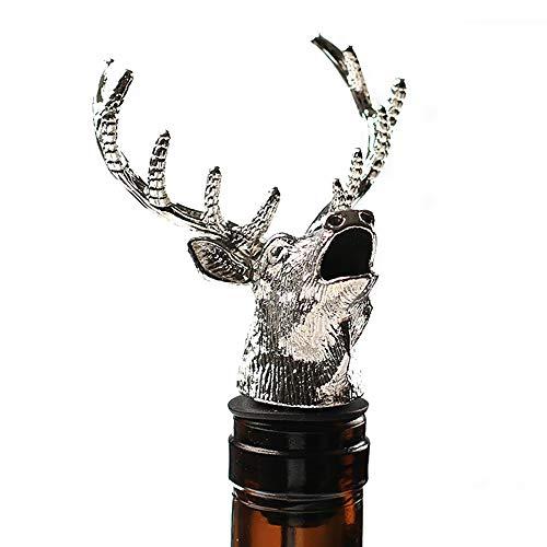 Aérateur de vin Décanteur Noël présente Le Bec d'aérateur Rapide, la Forme de tête de cerf de cerf de Bouchon de Bouteille avec Le Bouchon résistant aux fuites