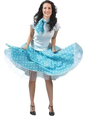 Rock'n'Roll Rock Blau - Erwachsene Kostüm (Seemann-mädchen-kostüm-plus Size)