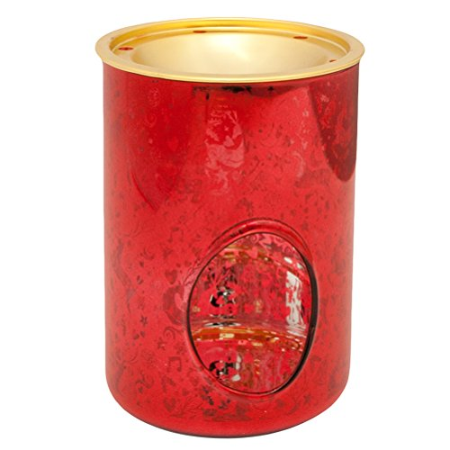 Rot Duftlampe (Heart & Home Duftlampe Glas Rot