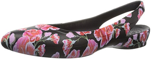 crocs - - Women's Eve Graphic Sling Sandalen, 36.5, Multi Rose/Black Crocs Sling