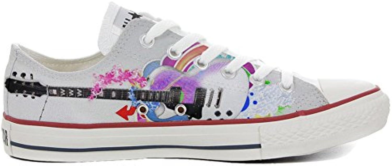 Schuhe Custom Converse All Star  Personalisierte Schuhe (Handwerk Produkt Customized) Slim Gitarren