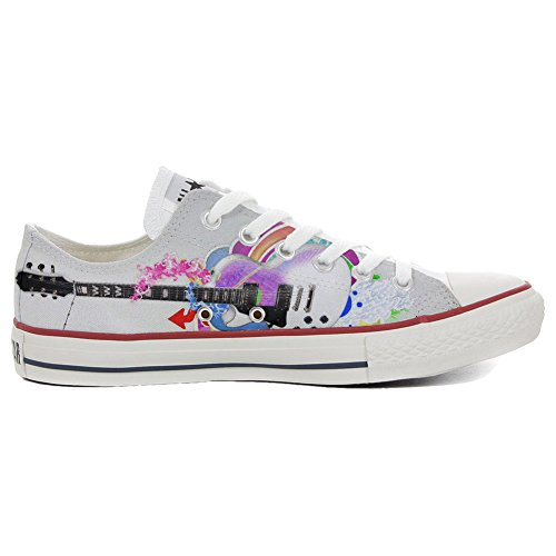 Converse All Star Personnalisé et Imprimés chaussures coutume, Sneaker Unisex (produit Italien artisanal) Low style de guitare