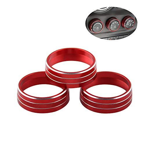 MeterMall 3 Teile/Satz Audio Klimaanlage Taste Abdeckung Dekoration Drehschalter Ring Trim für Jeep Wrangler JK -