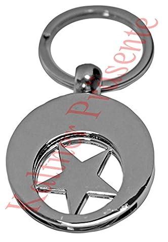 Kaltner Präsente Schlüsselanhänger STERN mit Einkaufswagen Chip