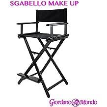 Taburete Make Up Maquillaje estructura de aluminio profesional Silla para esteticista