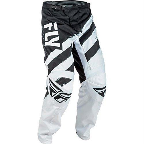 Fly Racing F-16 Motocross Hose, schwarz-weiß, Größe: 42, MX Pant Mountainbike MTB