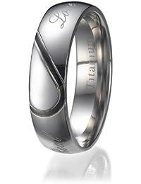 4mm Herren comfort fit Titan Klar Hochzeit Bandring