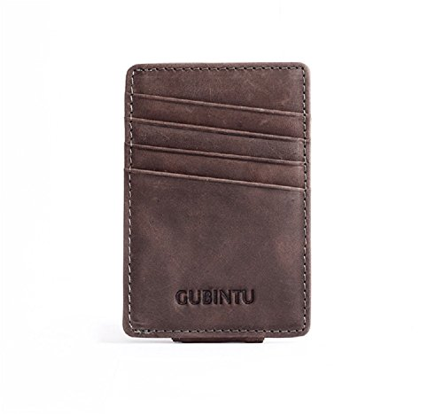 Money Clip, in pelle e porta carte di credito - Top Grain
