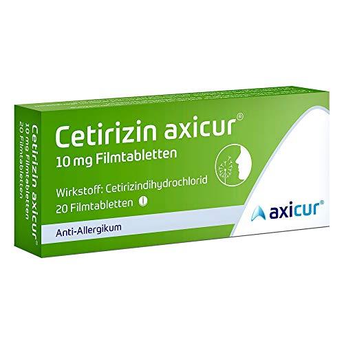 10 Mg 20 Tabletten (Cetirizin axicur 10 mg Fi 20 stk)