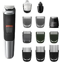 Philips MG5740/15 - Recortador de barba y precisión 12 en 1 tecnología Dualcut, autonomía de 80 minutos