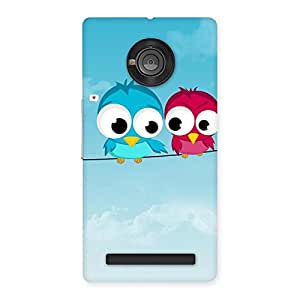 Special Birds on Wire Back Case Cover for Yu Yuphoria