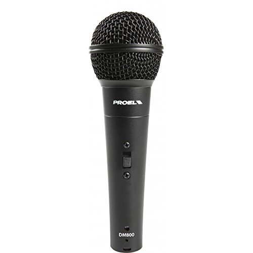 PROEL DM800 Microfono Cardioide Dinamico con e/o switch on/off e/o USB per canto karaoke ecc
