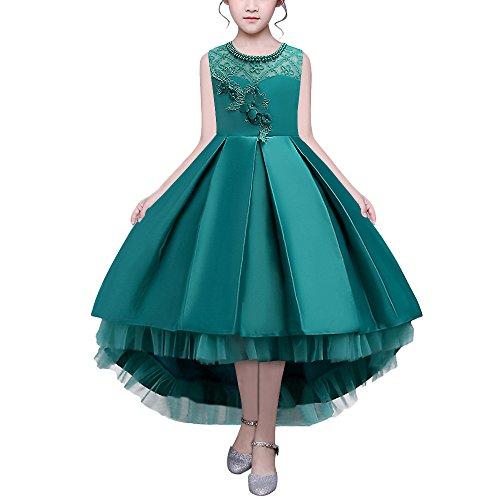 HUAANIUE Mädchen Abendkleid Blumenmädchen Performance-Kleidung Hochzeit Kostüme