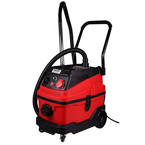 WALTER Werkzeuge JN 501PT 3-in-1 Multifunktionssauger mit Wasserfilter, 1600 W, 230 V, Rot/schwarz
