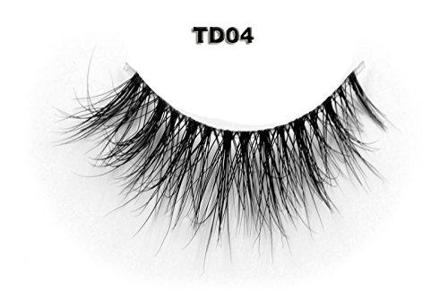 arent Vorbauten Band 100% Handgefertigte Künstliche Wimpern Dickes Augen Lashes Falsche Wimpern TD04 (Puppe Wie Make-up Halloween)