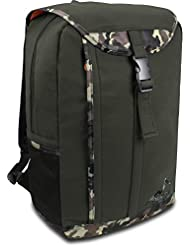 Rucksack daypack Schulrucksack in grau, schwarz, rot, oliv oder blau