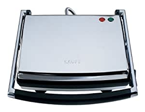 KRUPS FDE312 Universal Grill and Panini Maker with Nonstick Cooking Plates, Silver by Krups North America Inc.