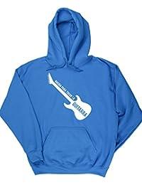 HippoWarehouse Nacida Para Tocar La Guitarra (Eléctrica) jersey sudadera con capucha suéter derportiva unisex