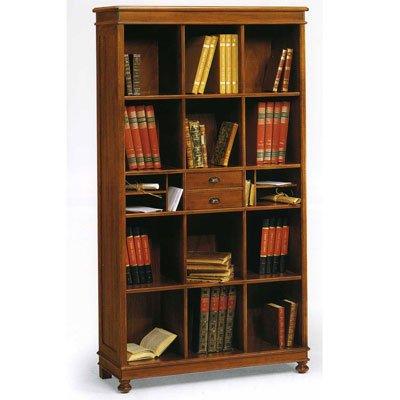 Unbekannt Bücherregal Holz Antik cm 100x36, h 180 - Italienischer Produktion