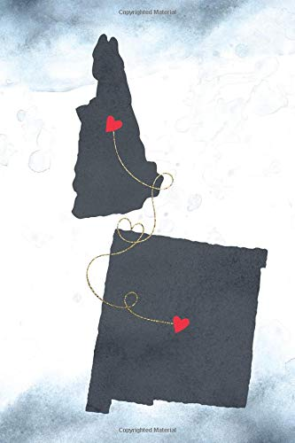 New Hampshire & New Mexico: Long Distance Out of State Notebook - Blank Lines (Together Forever Never Apart US States Journals, Band 996)