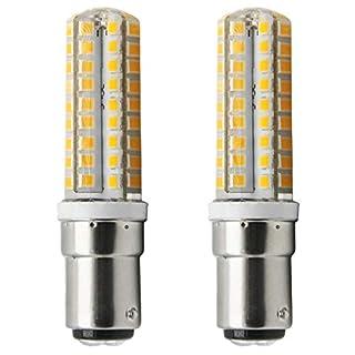 1819 ® BA15D LED Leuchtmittel dimmbar 5W 220-240V BA15D Stiftsockellampe warmweiß 3000 K(2 Stück)