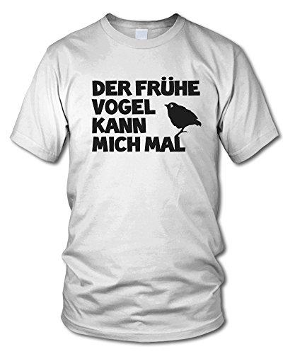 shirtloge - DER FRÜHE VOGEL KANN MICH MAL... - Kult T-Shirt - in verschiedenen Farben - Größe S - XXL Weiß