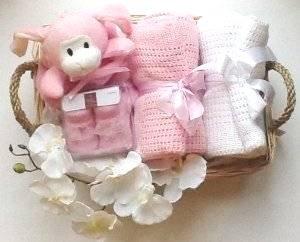 Deluxe Panier de fille de naissance - Cadeau Gratuit Paquet cadeau et option Message gratuit